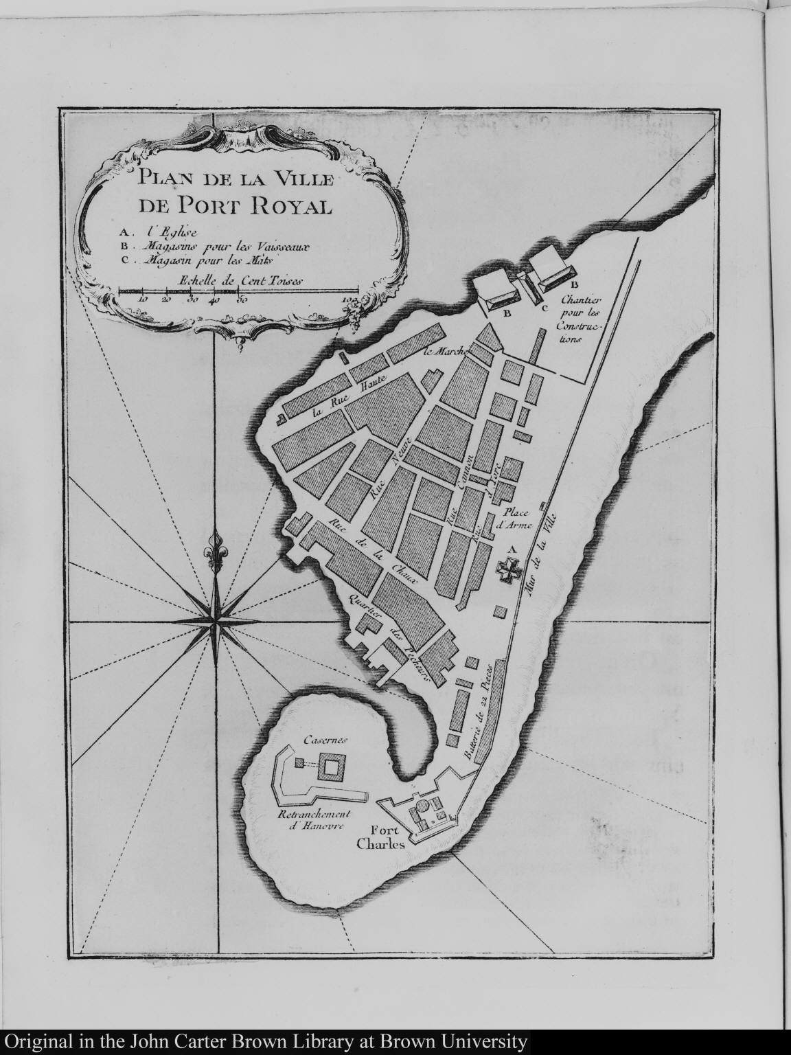 Plan de la Ville de Port Royal