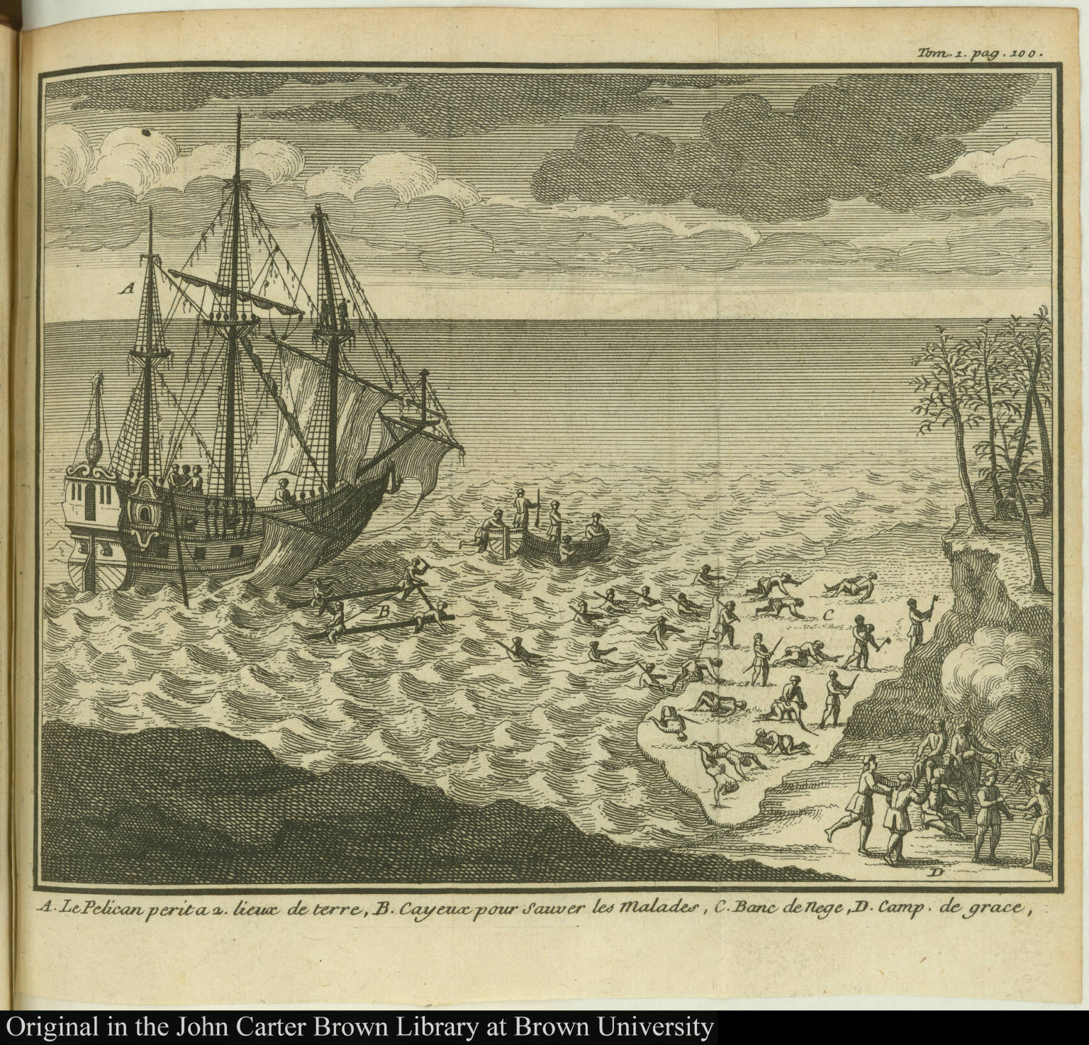 [Sinking of the ship Pelican]