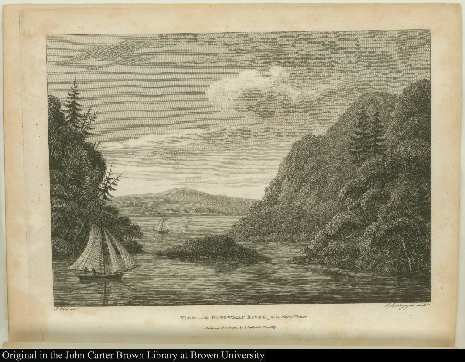 View on the Patowmac River, from Mount Vernon