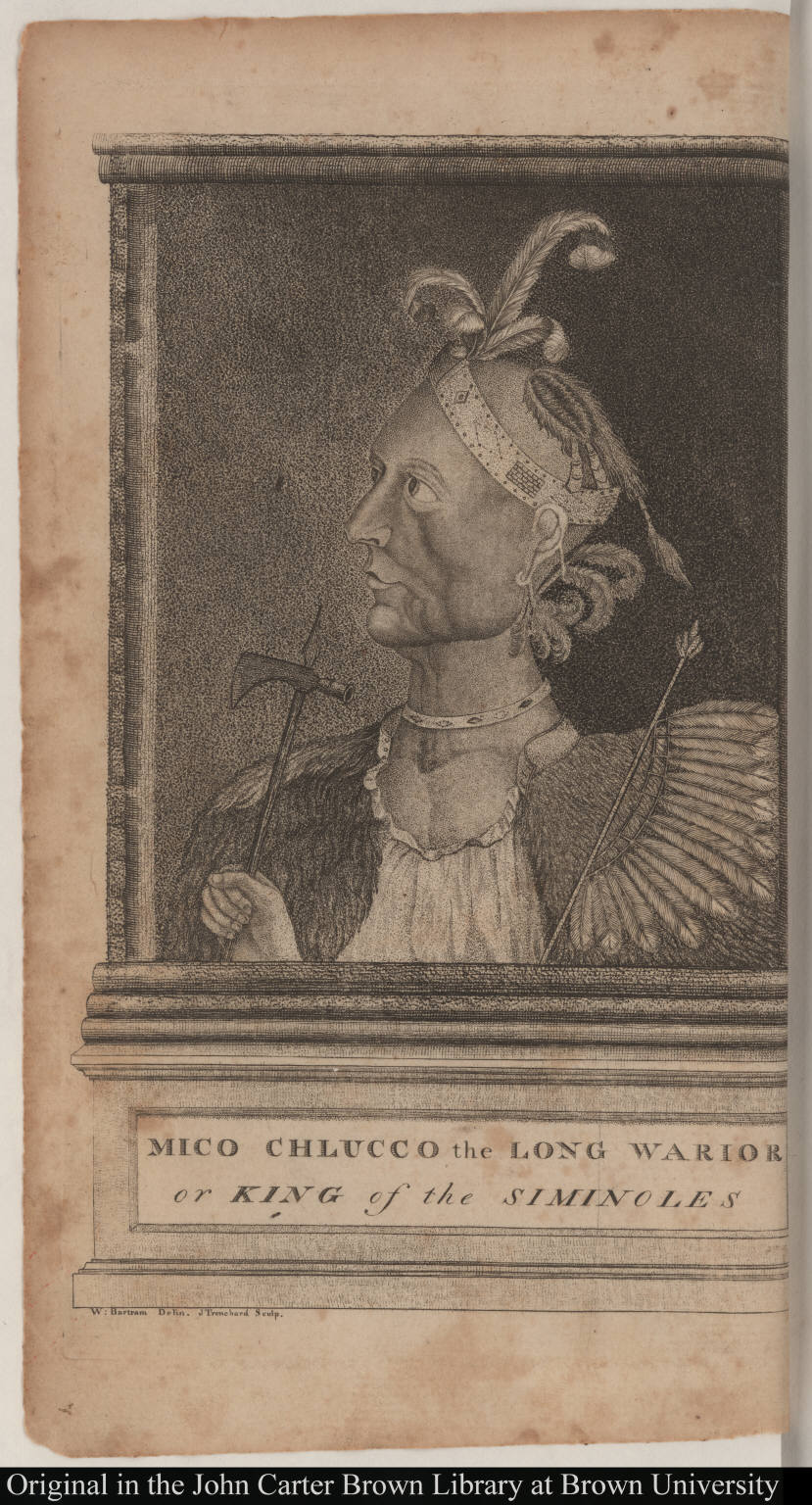 Mico Chlucco the Long Warior or King of the Siminoles