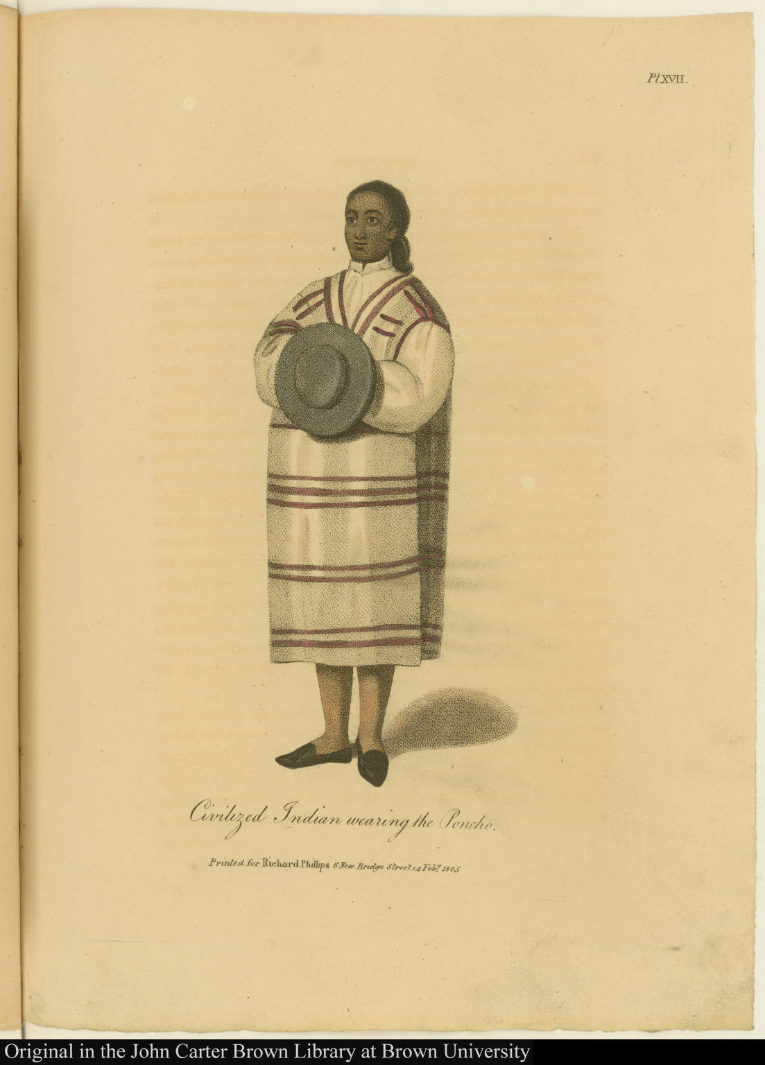 Civilized Indian wearing the Poncho.