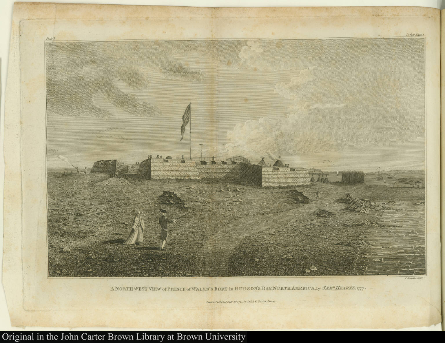 A north west view of Prince of Wales's Fort in Hudson's Bay, North America, by Saml. Hearne, 1777.