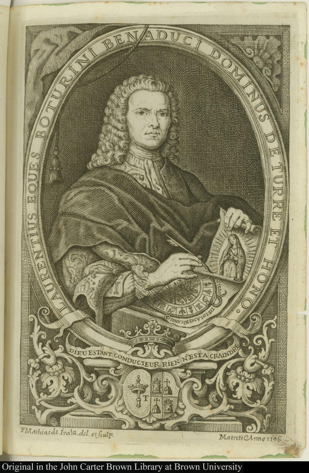 Laurentius eques Boturini Benaduci Dominus de Turre et Hono.