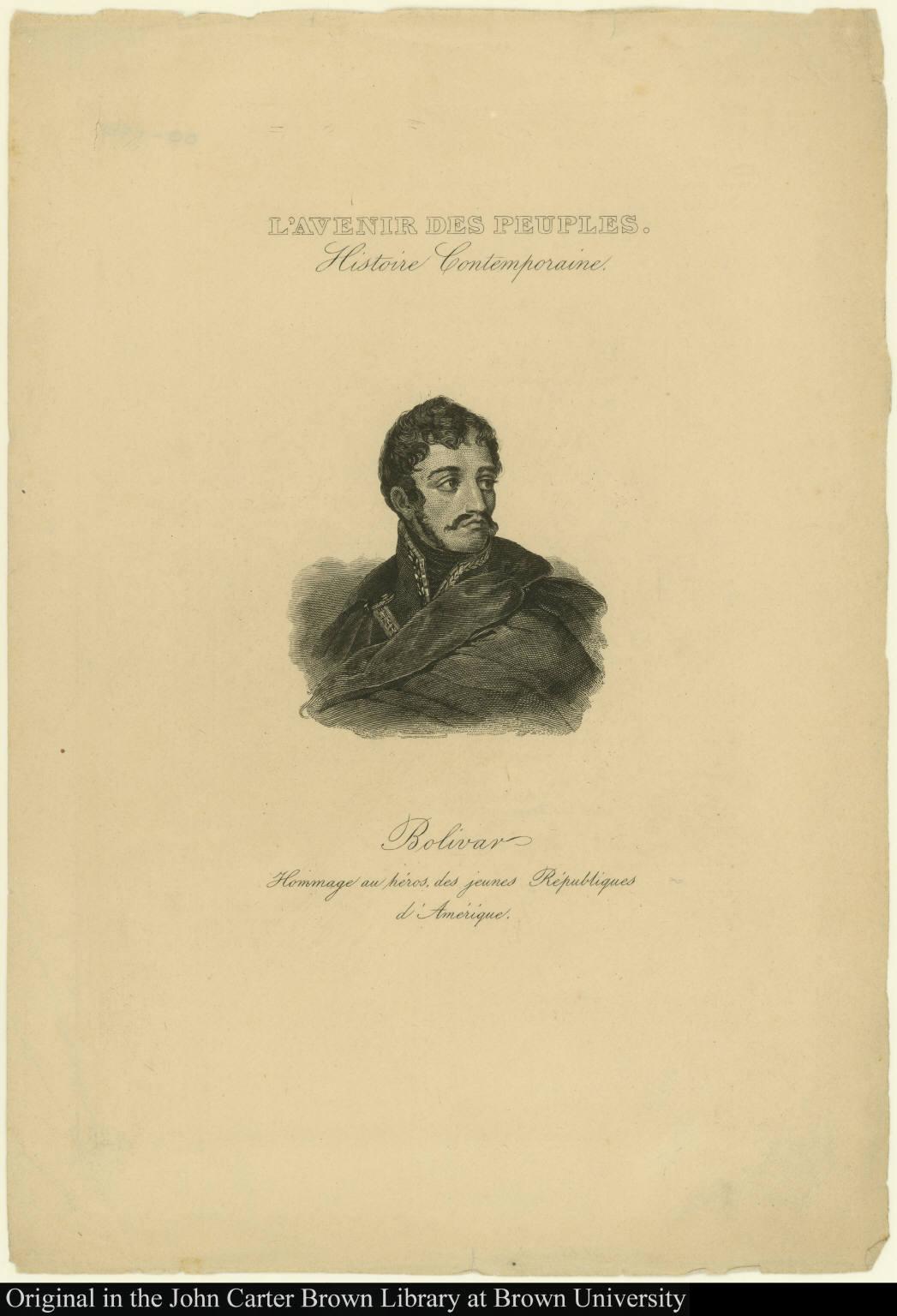 Bolivar Hommage au héros, des jeunes Républiques d'Amérique.