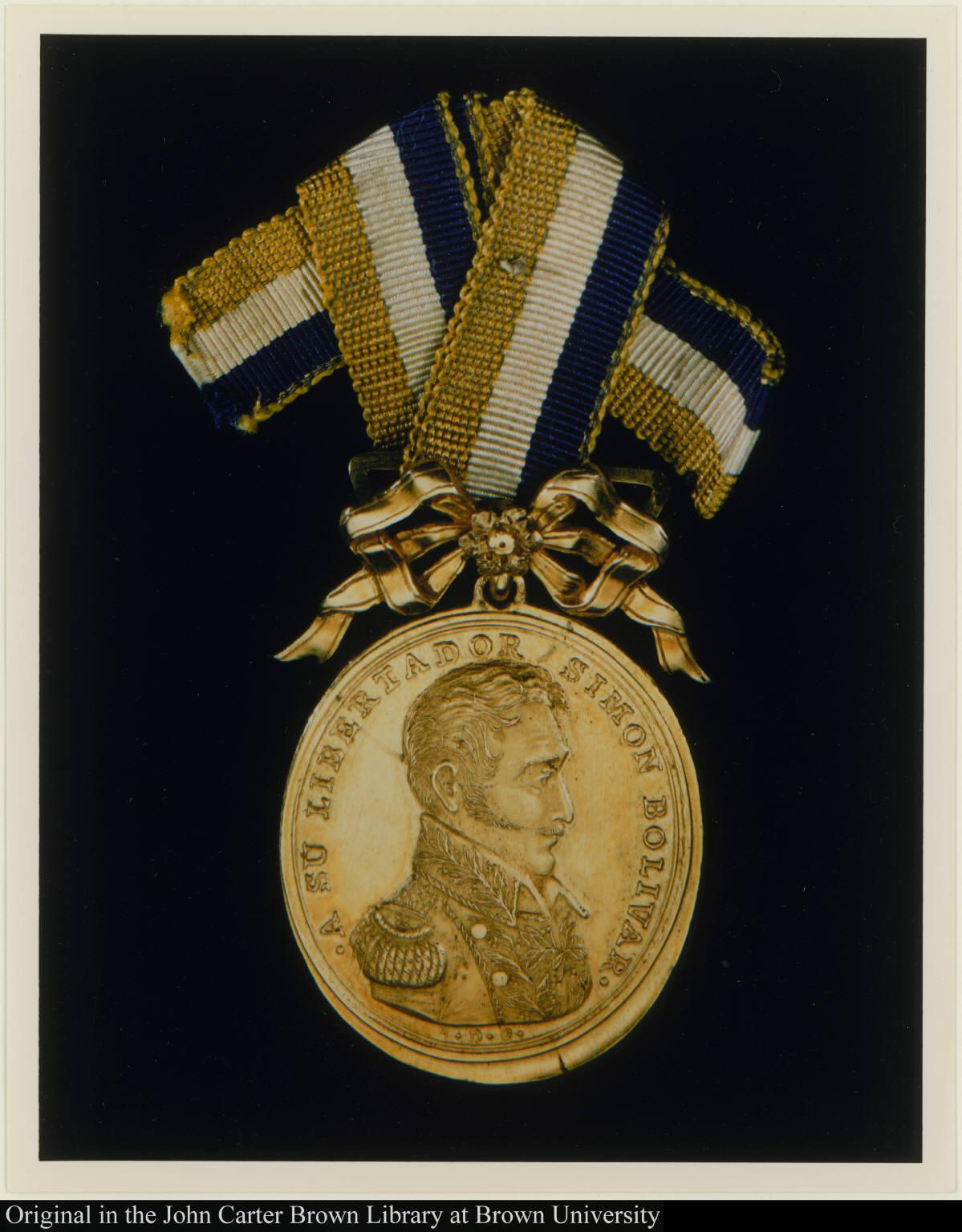 A su libertador Simon Bolivar.