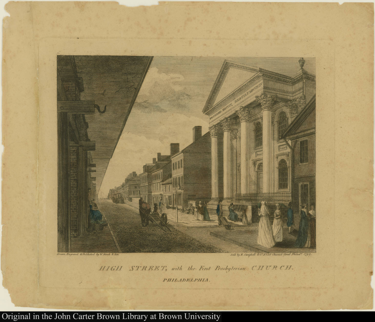 High Street, with the First Presbyterian Church. Philadelphia