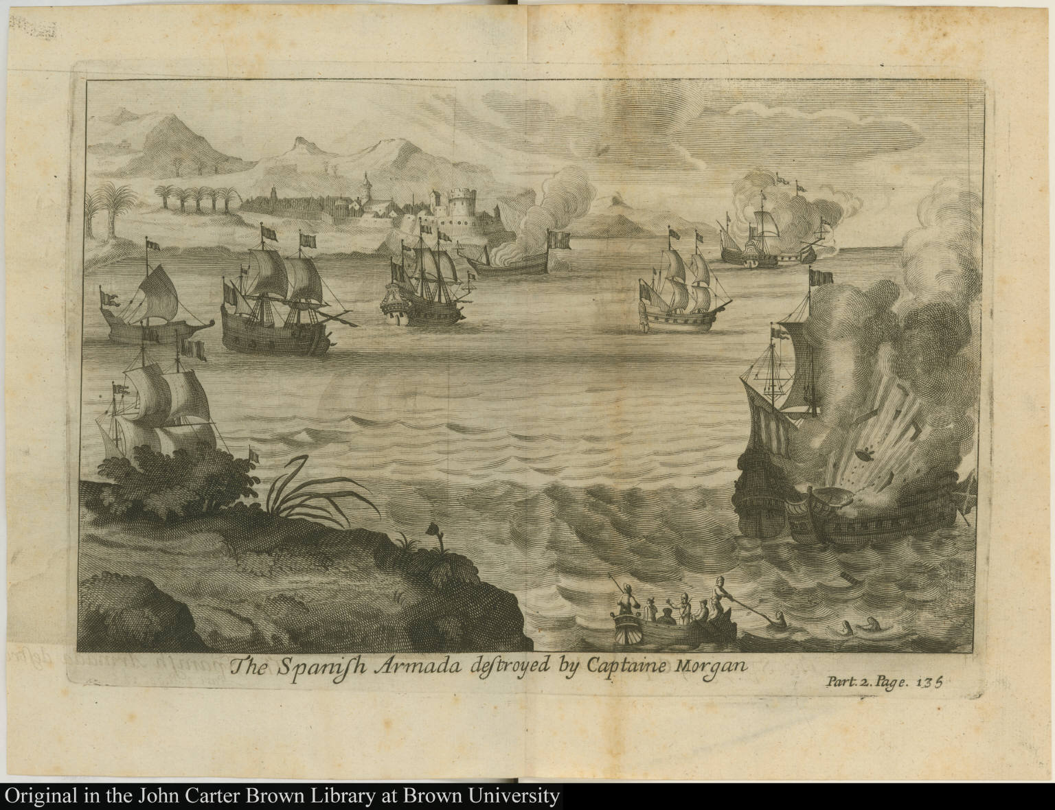 The Spanish Armada destroyed by Captaine Morgan