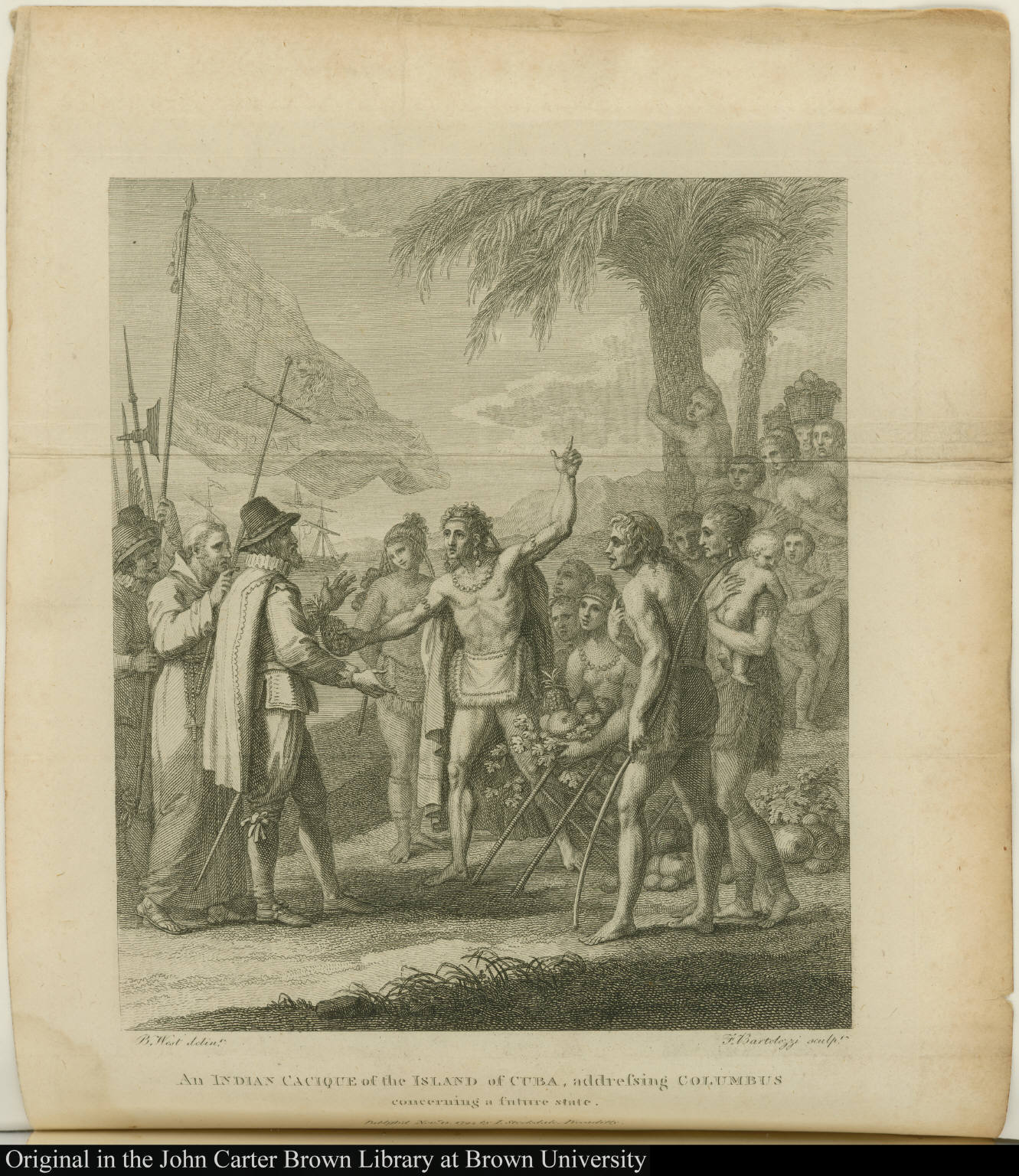 An Indian Cacique of the Island of Cuba, addressing Columbus concerning a future state.