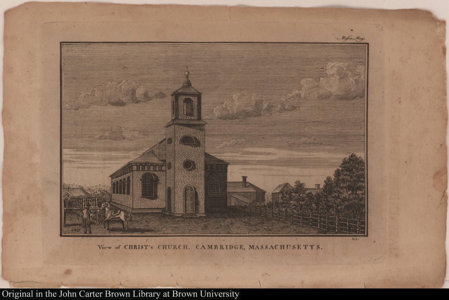 View of Christ's Church, Cambridge, Massachusetts.