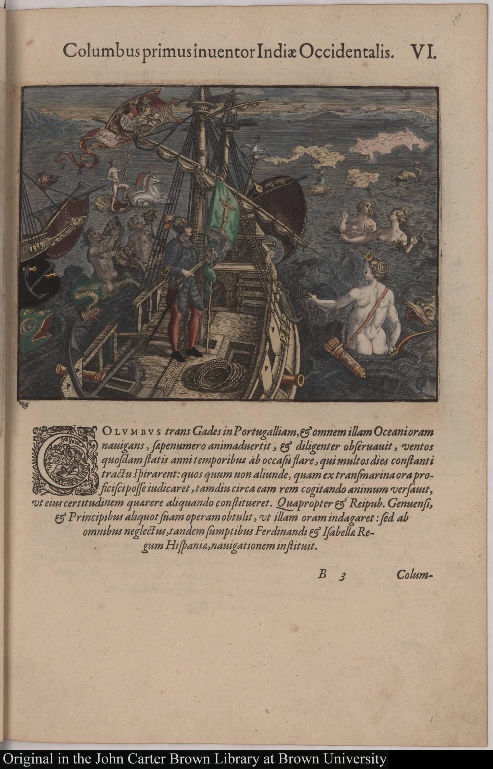 Columbus primus inventor Indiae Occidentalis.