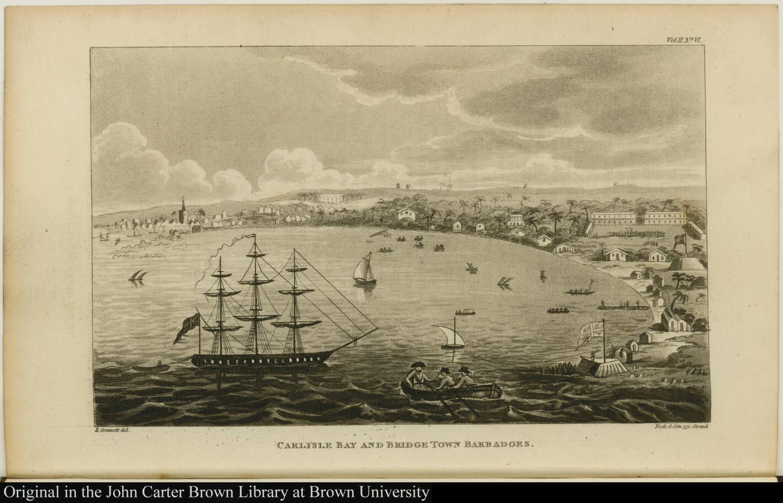 Carlisle Bay and Bridge Town Barbadoes.