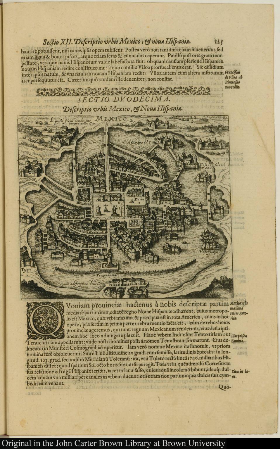 Descriptio urbis Mexico, & Novae Hispaniae