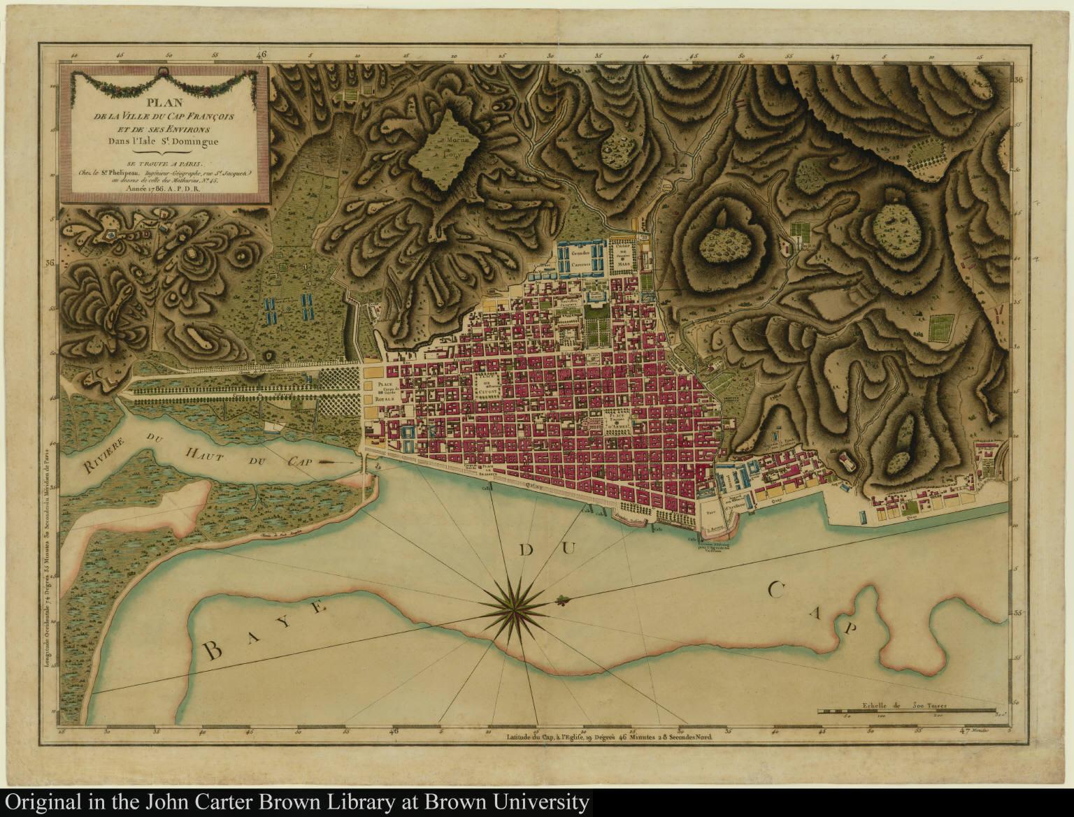 Plan de la Ville du Cap François et de ses Environs Dans l'Isle St. Domingue