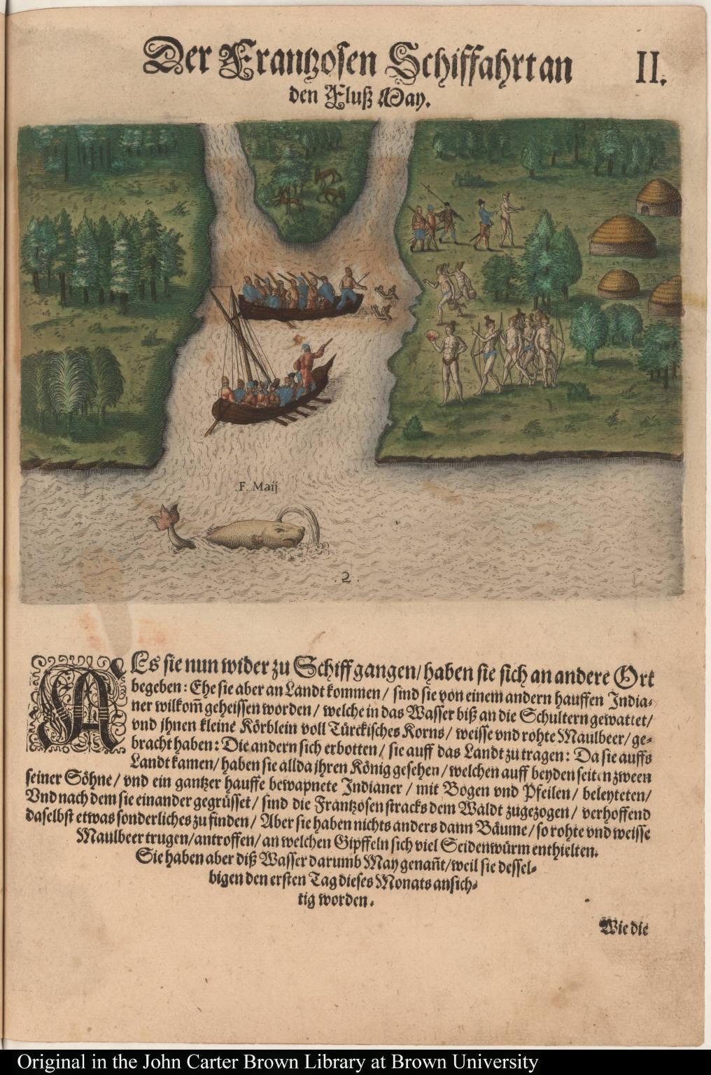 Der Franzosen Schiffahrtan den Fluss May.