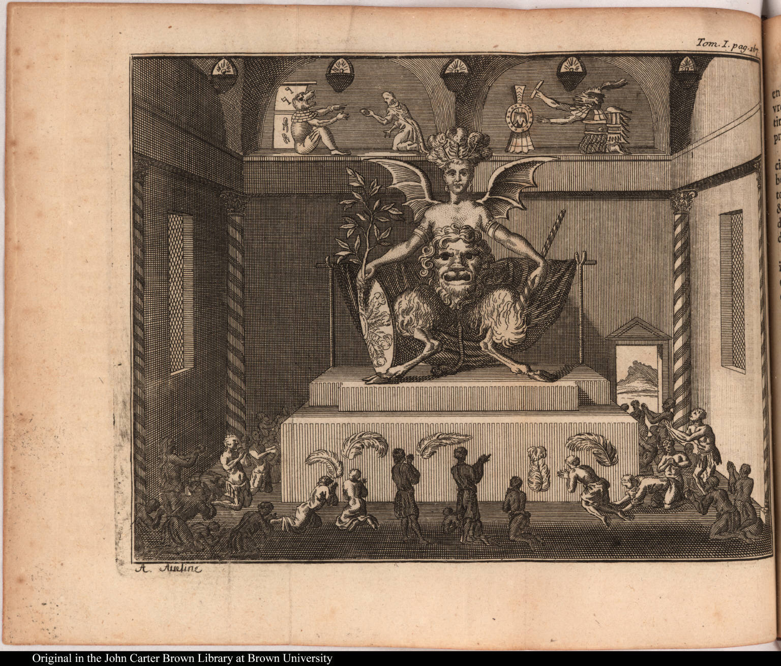 [Interior of an Aztec temple]