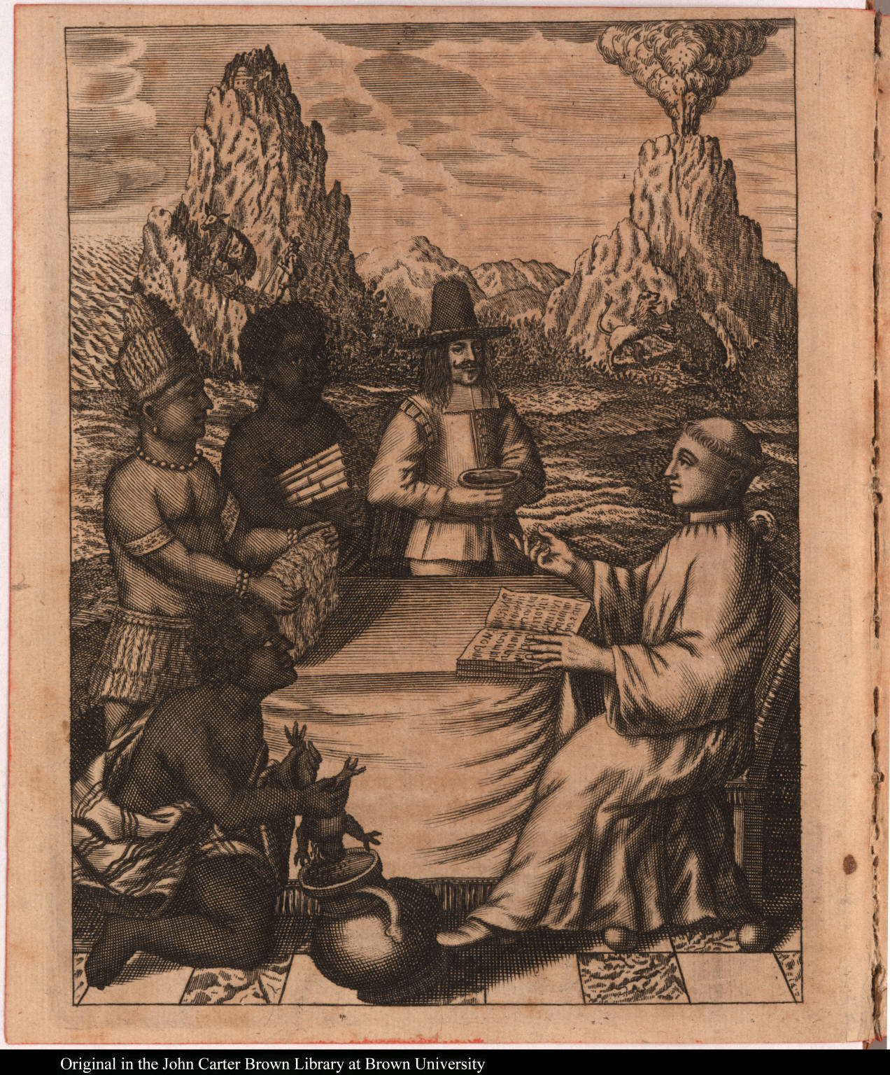 [Native Americans offer gifts to Thomas Gage]