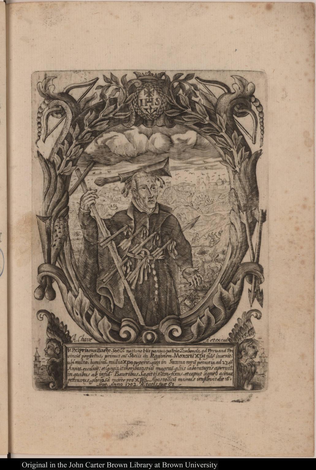 V. P. ciprianus Barace Soc. J. natione Hispanus, patria Issabensis, ...