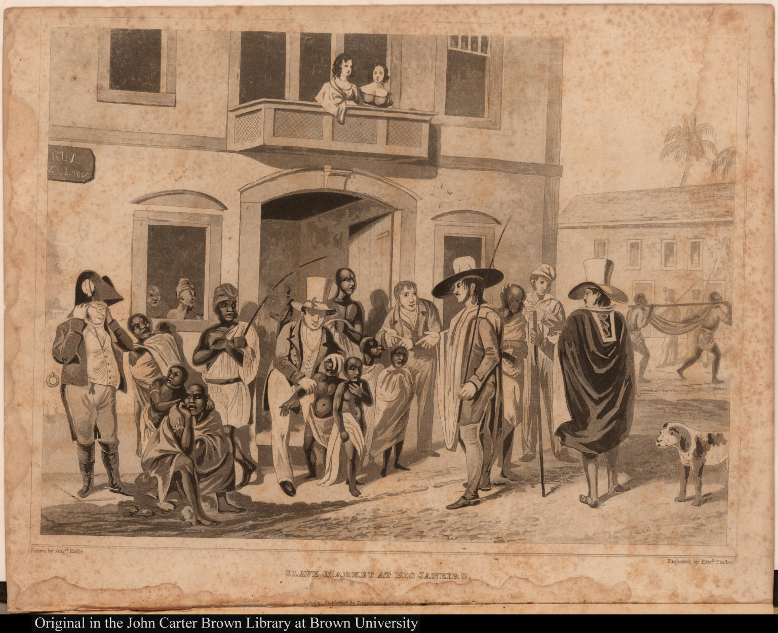 Slave market at Rio Janeiro