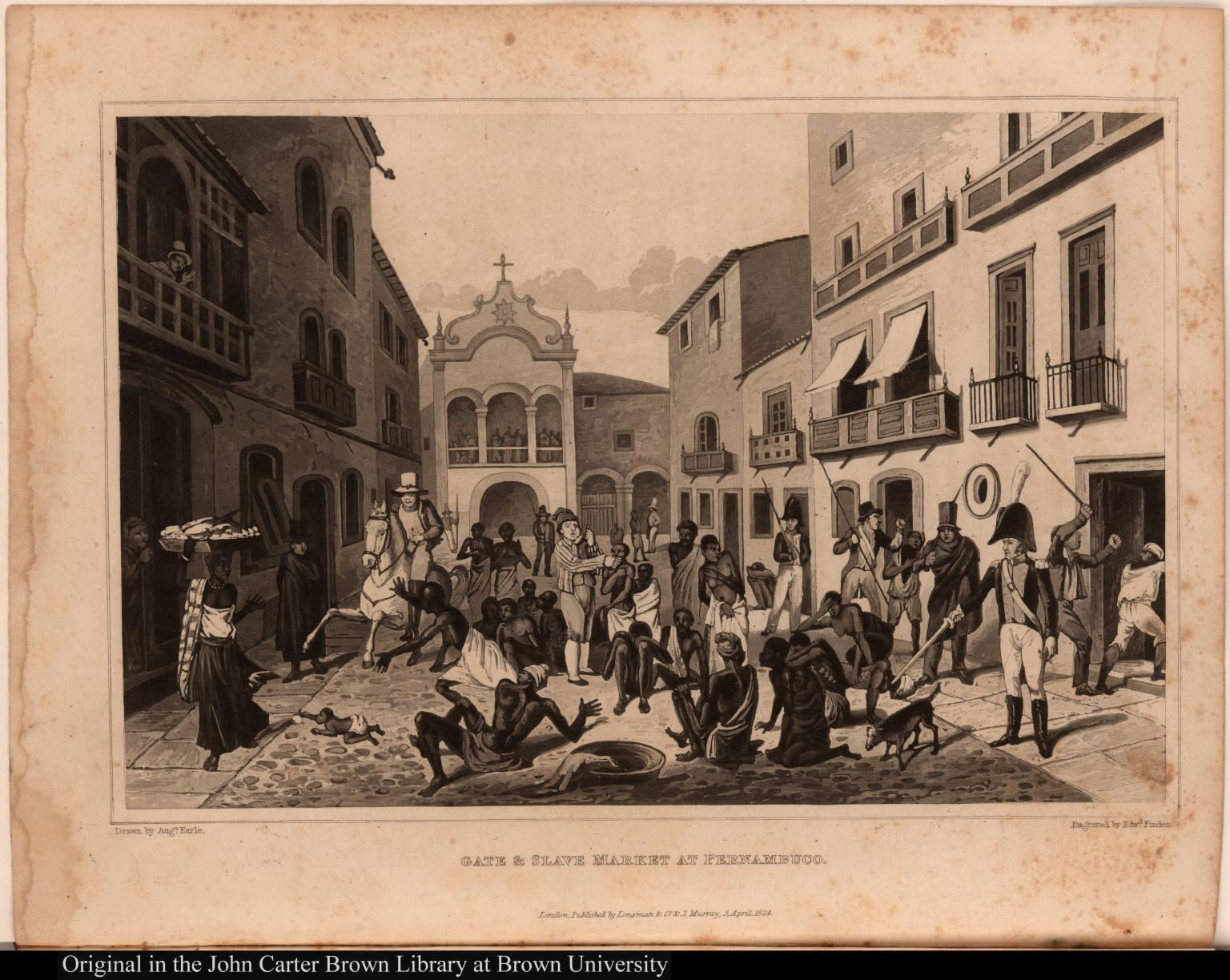 Gate & slave market at Pernambuco.
