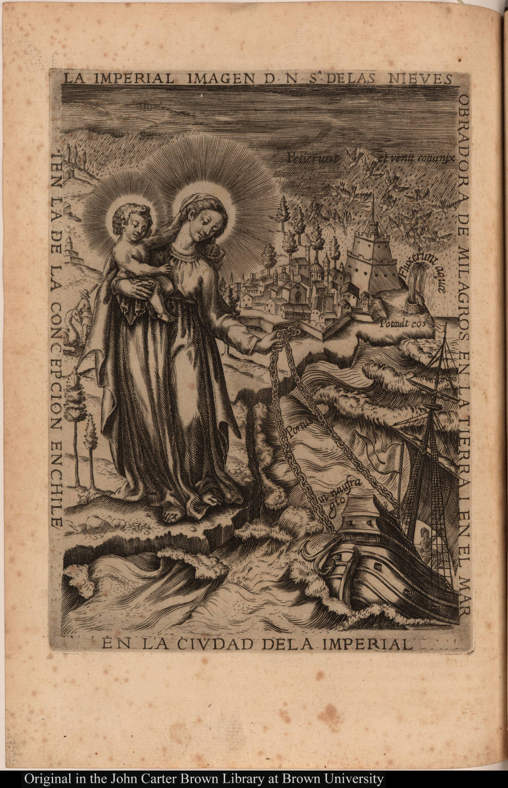 La imperial imagen d. N.S[enor]a. delas Nieves obradora de milagros en la tierra i en el mar ...