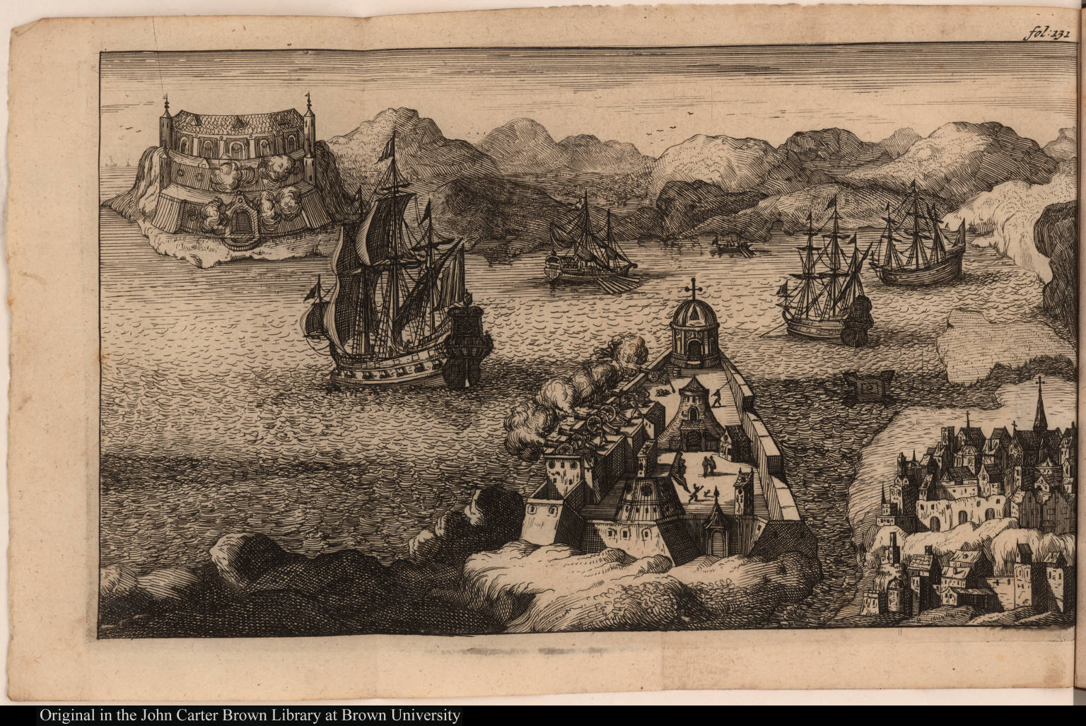 [Naval attack on seaport]