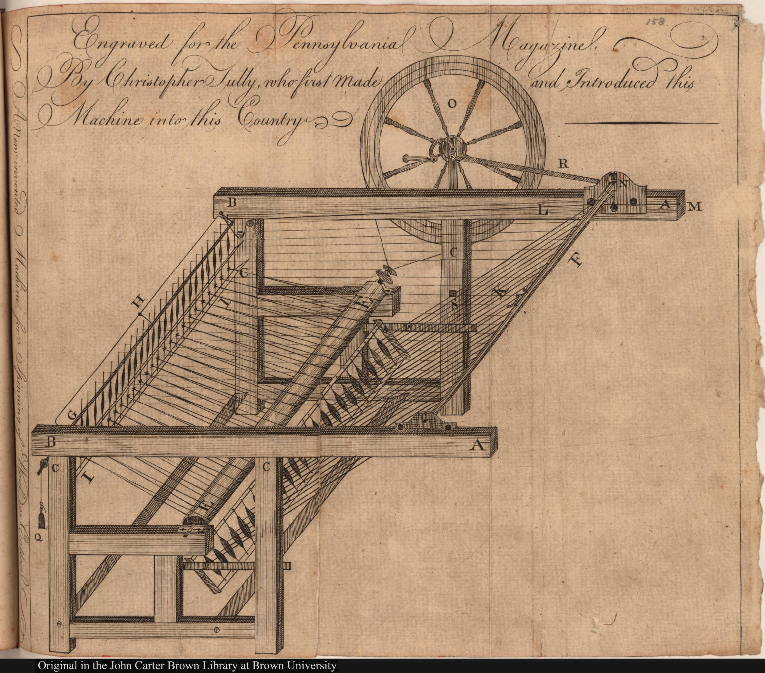 A New invented Machine for Spinning of Wool or Cotton