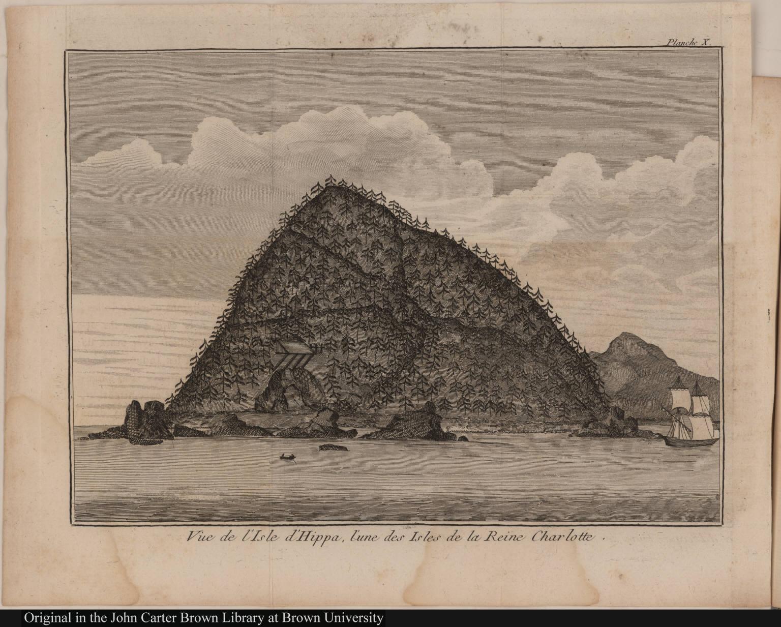 Vue de l'Isle d'Hippa, l'une des Isles de la Reine Charlotte.