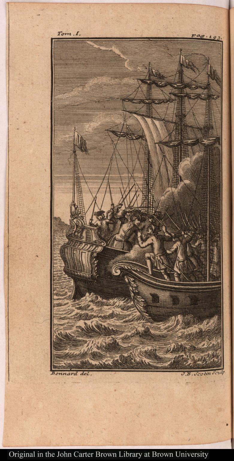 [Pirates attack a ship]