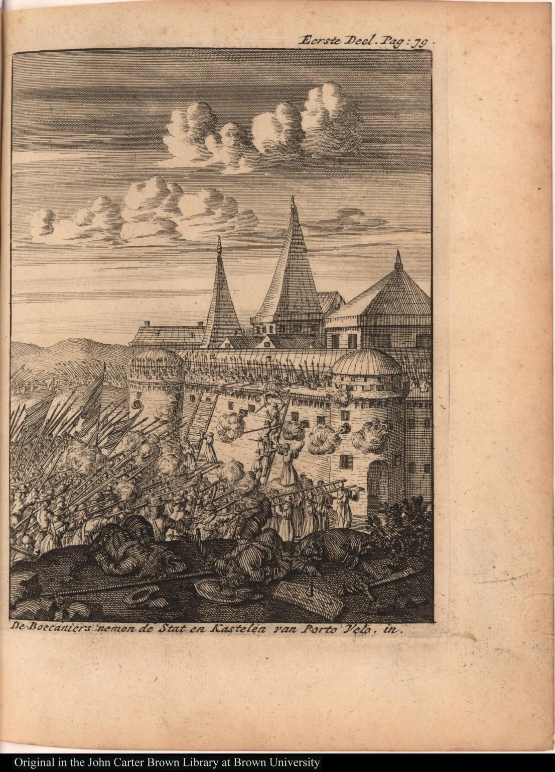 De Boecaniers nemen de Stat en Kastelen van Porto Velo, in.