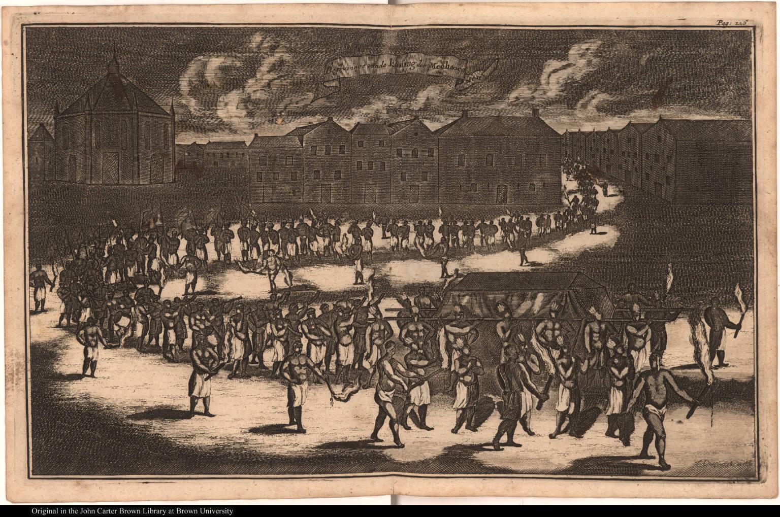 Begravinge van de koning der Mechaocanen