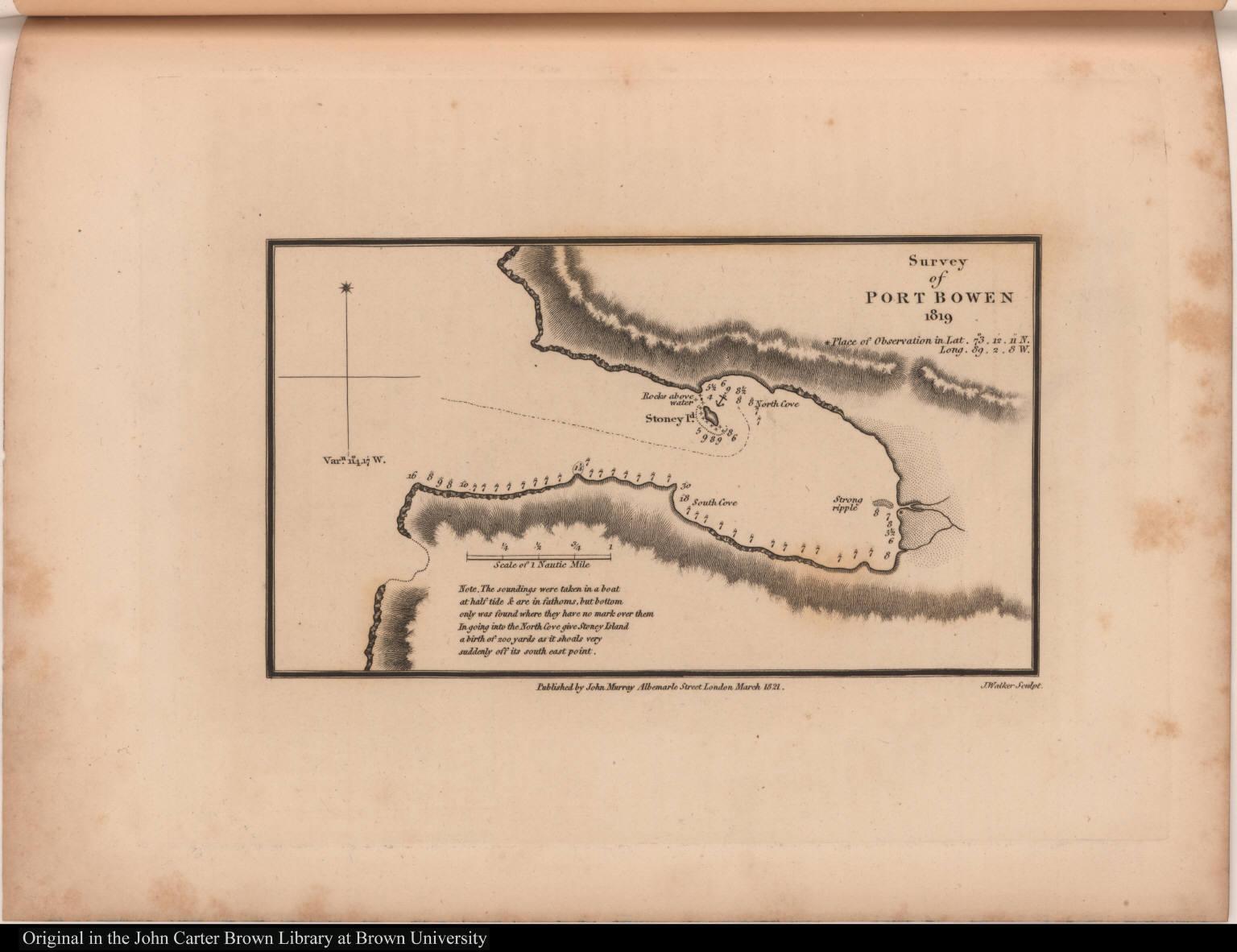 Survey of Port Bowen 1819