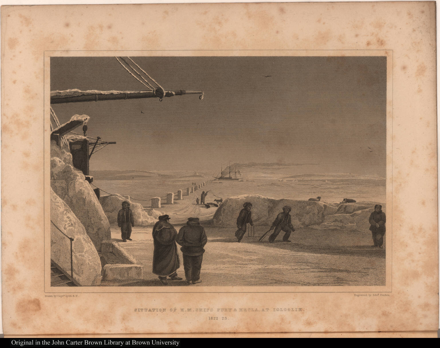 Situation of H. M. Ships Fury & Hecla, at Igloolik. 1822 23.