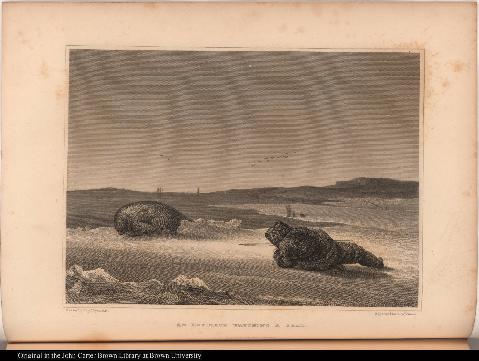 An Eskimaux Watching a Seal.