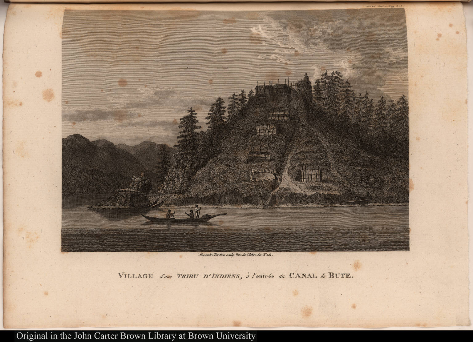 Village d'une Tribu d'Indiens, à l'entrée du Canal de Bute.