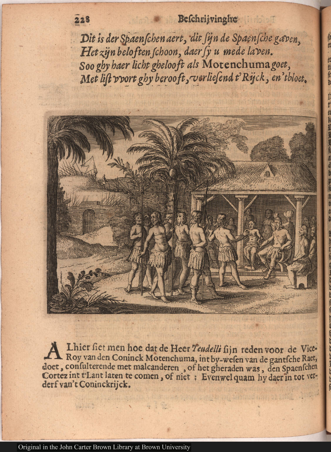 [Moctezuma and his court]