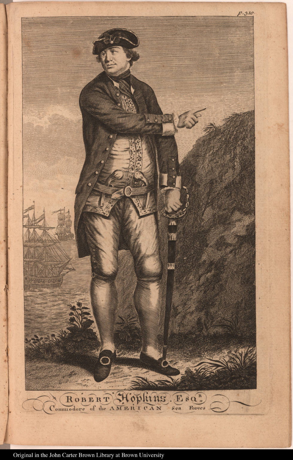 Robert Hopkins. Esqr: Commodore of the American Sea Forces