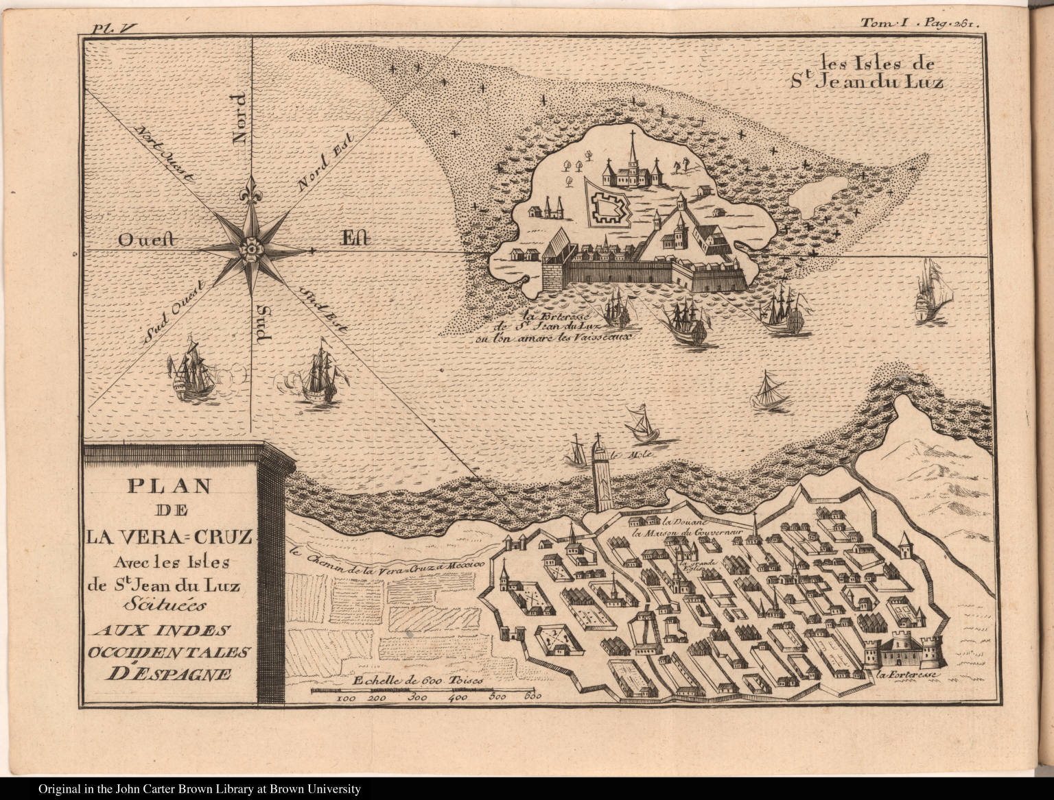 Plan de la Vera=Cruz Avec les Isles de St. Jean du Luz ...