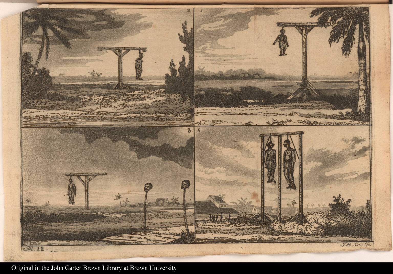 [Five of the culprits in chains, as they appeared on the 20th of September, 1823.]