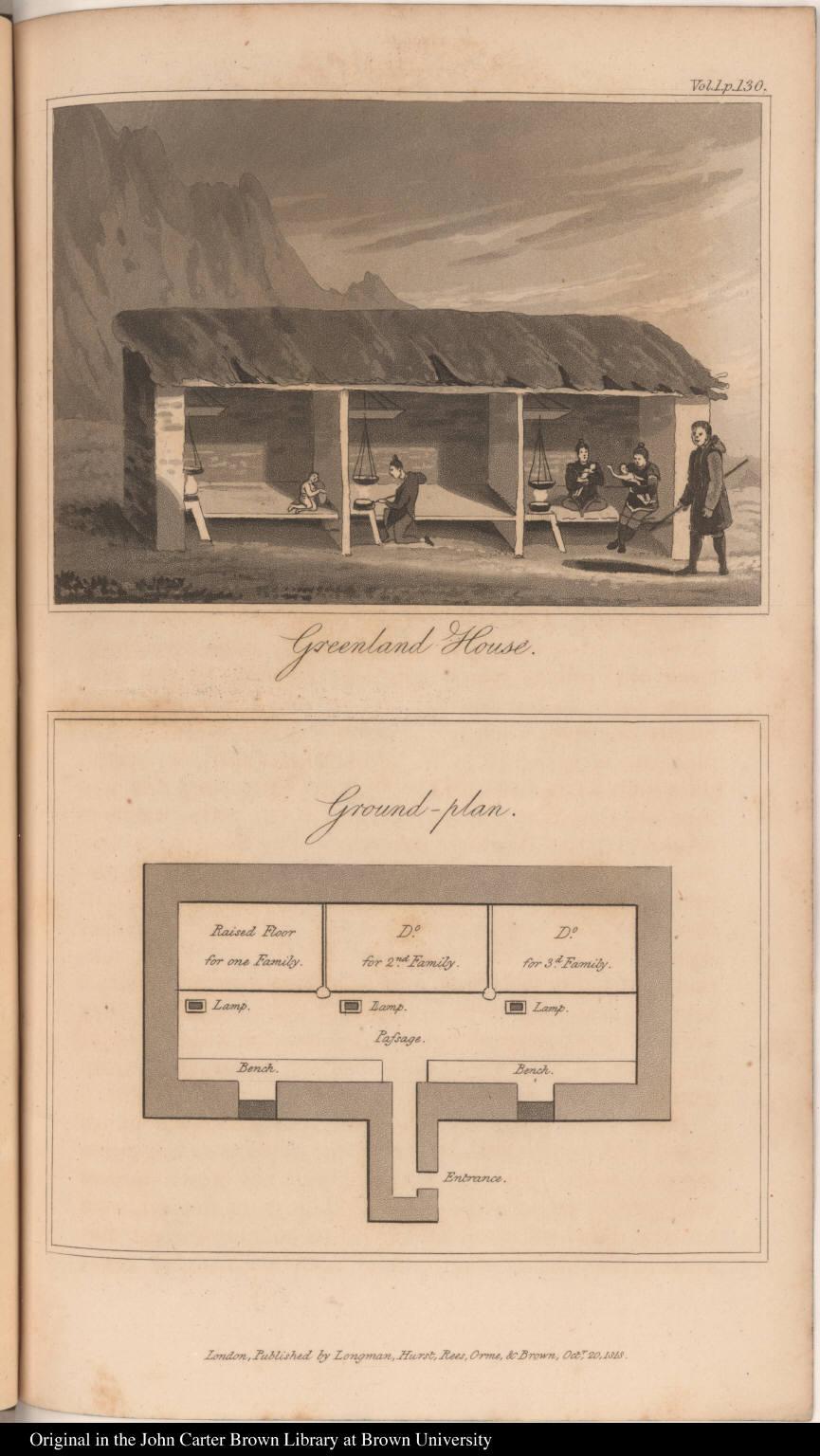 (top) Greenland House. (bottom) Ground-plan.