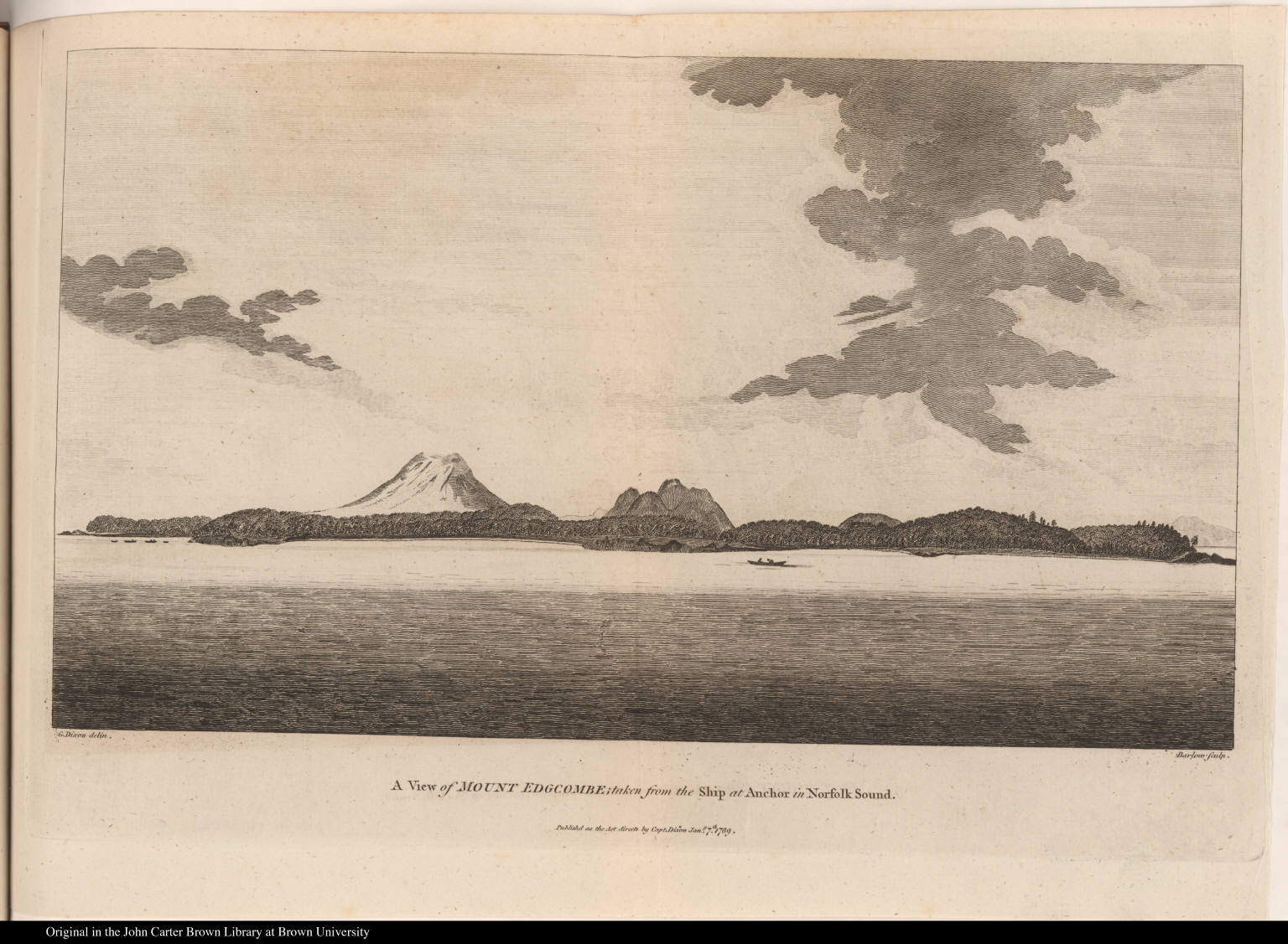A View of Mount Edgcombe; taken from the Ship at Anchor in Norfolk Sound.