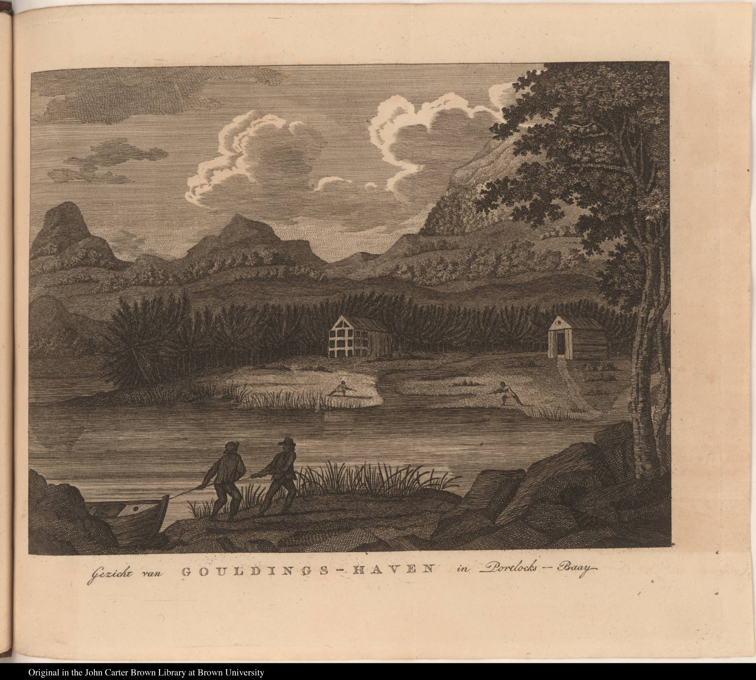 Gezicht van Gouldings-Haven in Portlocks -- Baay