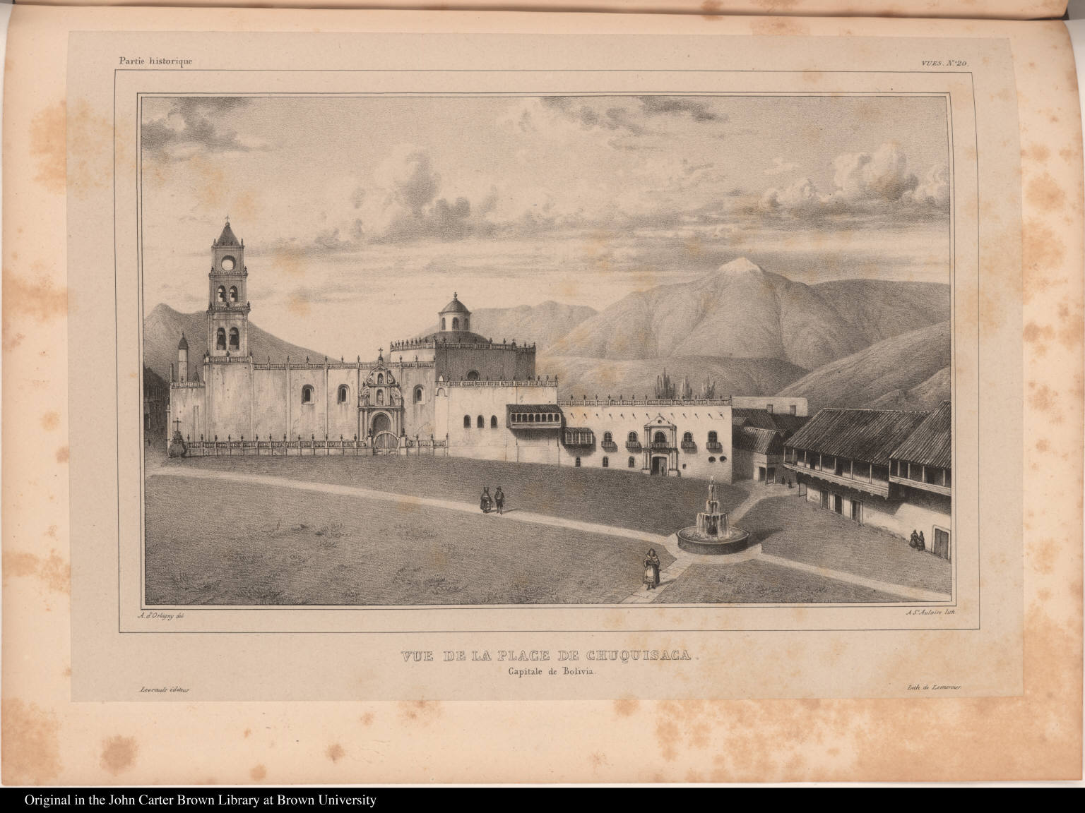 Vue de la Place de Chuquisaca. Capitale de Bolivia.
