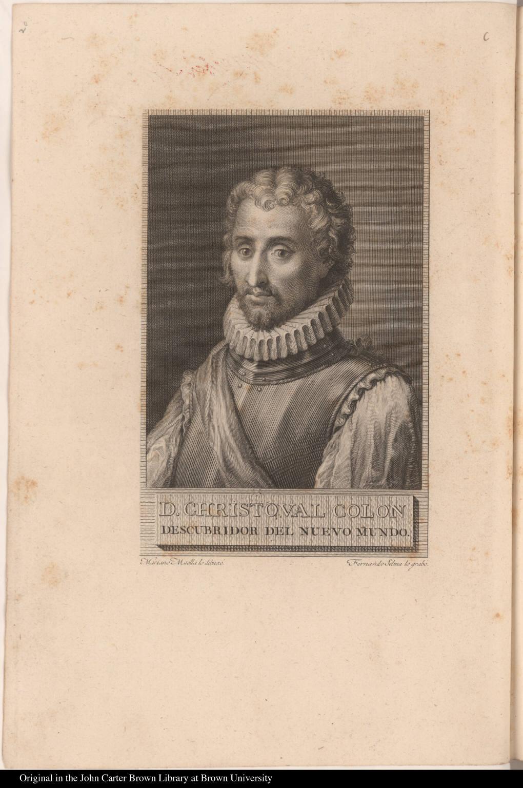 D. Christoval Colon descubridor de Nuevo Mundo.