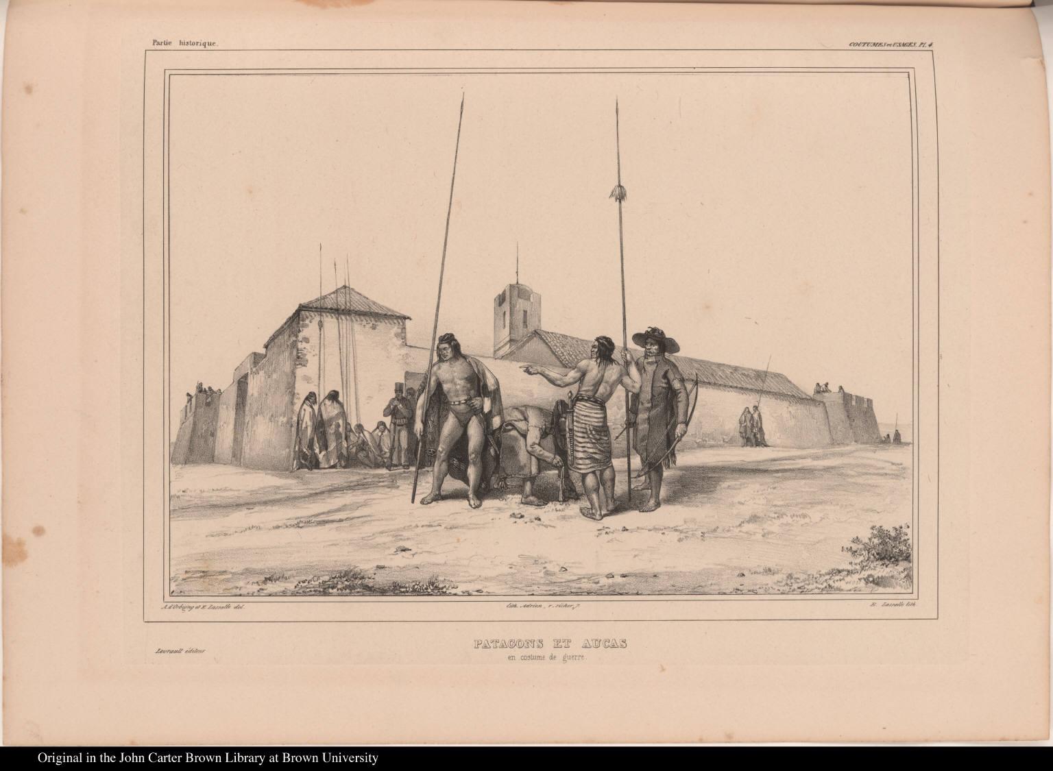 Patagons et Aucas en costume de guerre.
