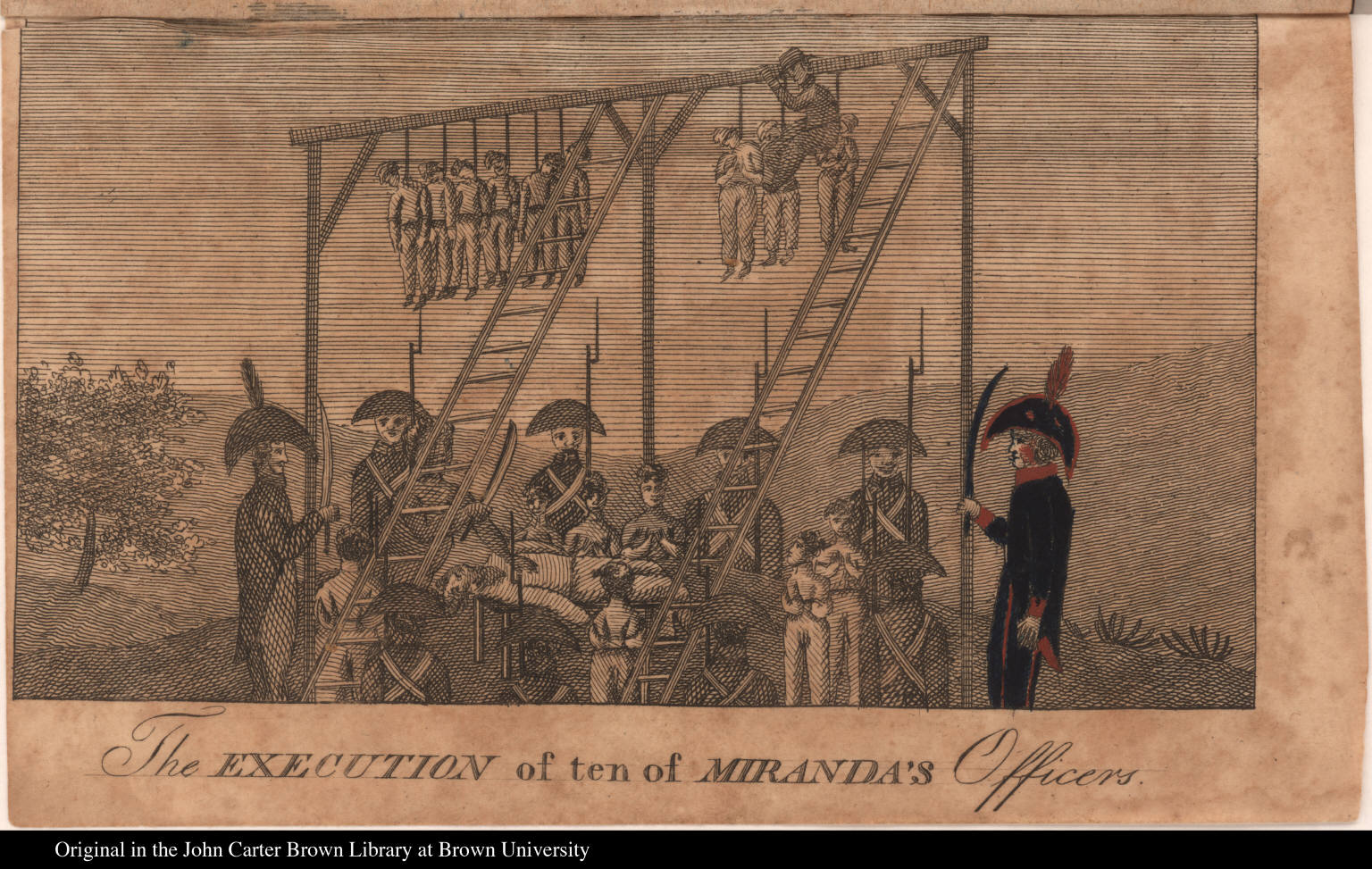 The execution of ten of Miranda's Officers.