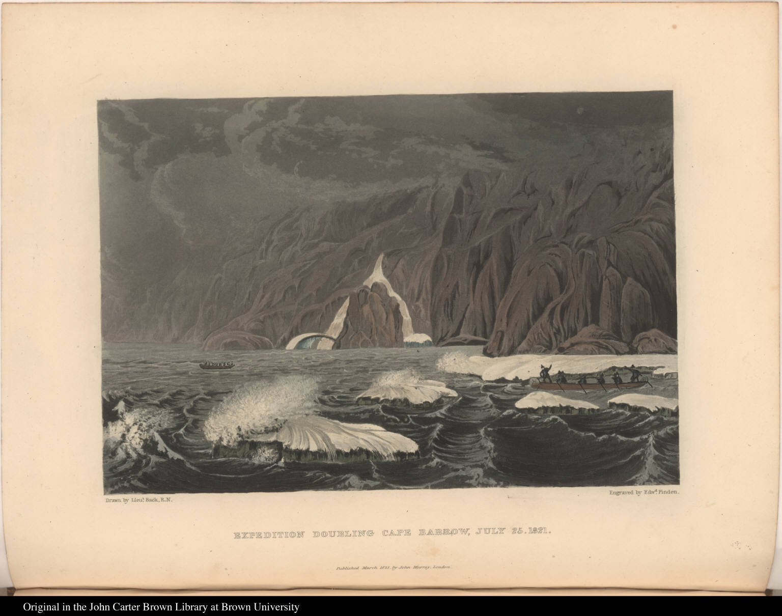 Expedition Doubling Cape Barrow, July 25, 1821  - JCB