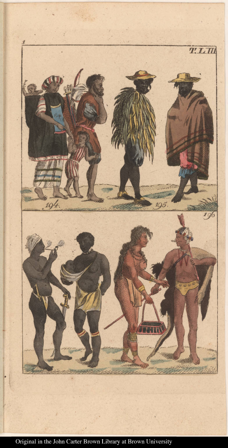 [Figs. 194 & 195. Mexican Indians. Fig. 196 Carib Indians. ]