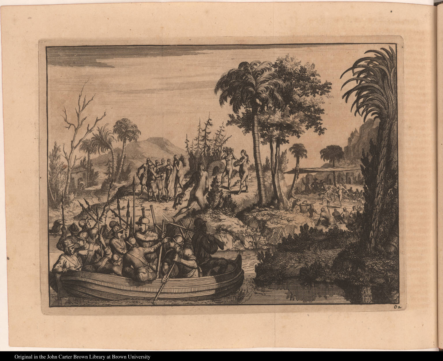 [European soldiers land on an island]
