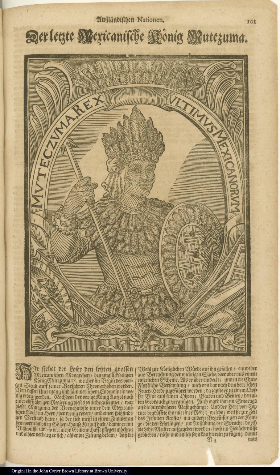 Muteczuma, Rex ultimus Mexicanorum
