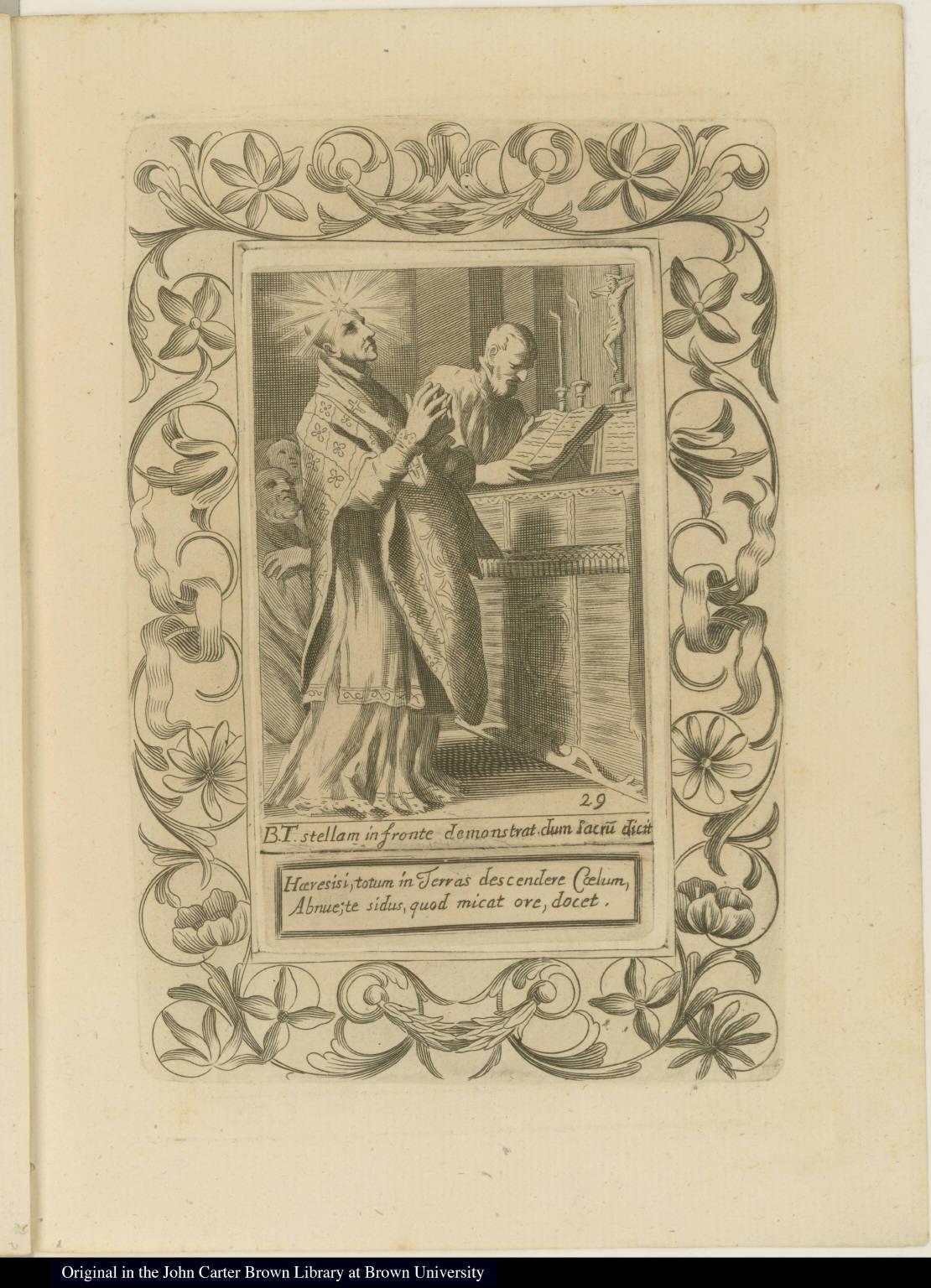 B. T. stellam in fronte demonstrat dum Sacru[m] dicit